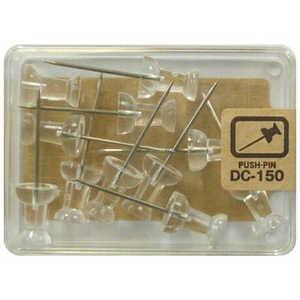 ベロス ダルマロング画鋲 透明 DC150