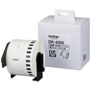 ブラザー brother ラベルライター用テープ(テープ白/文字色黒/62mm×30.48m) DK4205