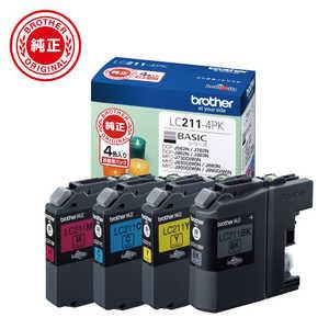 ブラザー brother 【純正】インクカートリッジ 4色パック[対応型番:DCP-J968N、DCP-J567N 他] LC2114PK