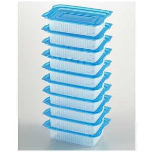 ヨシカワ 便利な一人分冷凍パック10個入 ブルー ブルー 24566