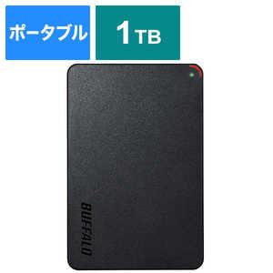 BUFFALO 外付けHDD ブラック [ポータブル型 /1TB] HDPCFS1.0U3BBA