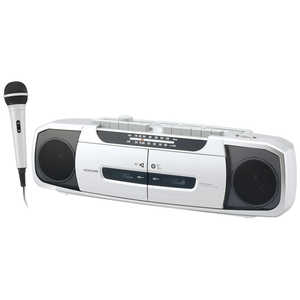 KOIZUMI ダブルラジカセ SAD-1233/S ラジカセ/CDラジオ