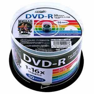 磁気研究所 HIDISC 1-16倍速対応 データ用DVD-Rメディア(4.7GB・50枚) R-S50P16S HDDR47JNP50