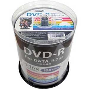 磁気研究所 HIDISC 1-16倍速対応 データ用DVD-Rメディア(4.7GB・100枚) R-S1HP16S HDDR47JNP100