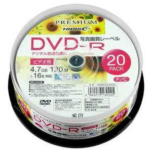 PREMIUM HIDISC DVD-Rデジタル録画用 120分「写真画質レーベル」20枚 HDSDR12JCP20SN