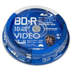 磁気研究所 HIDISC 録画用 BD-R 1-6倍速 25GB 10枚「インクジェットプリンタ対応」 1L10SP VVVBR25JP10