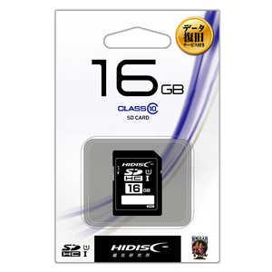 HIDISC SDHCメモリカード UHS-I/UHS スピードクラス1対応 データ復旧サービス付 [Class10対応/16GB] HDSDH16GCL10DS