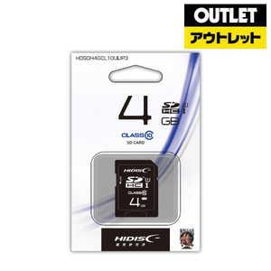 SDカードHIDISC SDHCカード 4GB Class10 UHS-I対応 アウトレット HDSDH4GCL10UIJP3