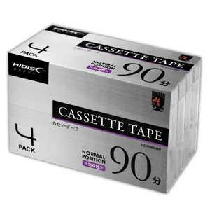 カセットテープ HIDISC [4本/90分/ノーマルポジション] HDAT90N4P