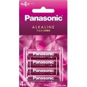 パナソニック Panasonic アルカリ乾電池単4形4本パック Ax4単4 LR03LJR4B