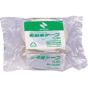 ニチバン 布粘着テープ102N75ミリ ドットコム専用 102N775
