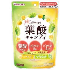 アサヒグループ食品 「ママスタイル」葉酸キャンディ78g ヨウサンキャンディ