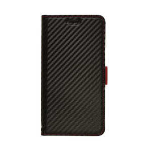 ラスタバナナ iPhone 11 6.1インチ 薄型手帳ケース サイドマグネット carbon BKxRD 5142IP961BO