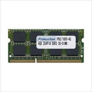 プリンストン PC3-12800(DDR3-1600) CL=11 204PIN SO-DIMM 4GBx1枚組 PAN316004G