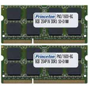 プリンストン 【MacBook Pro対応】PC3-12800(DDR3-1600)対応ノートブック用メモリモジュール DDR3 SDRAM S.O.DIMM(8GB・2枚) PAN316008GX2