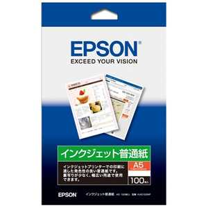 エプソン EPSON インクジェット普通紙(A5サイズ・100枚入り) KA5100NP