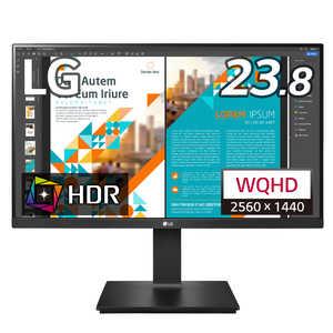 LG PCモニター ブラック [23.8型 /ワイド /WQHD(2560×1440)] 黒 24QP550B