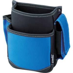 トラスコ中山 TRUSCO 腰袋 2段 携帯電話ホルダー付き ブルー ドットコム専用 TWP2BL