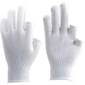 トラスコ中山 TRUSCO 2本指出しすべり止め付手袋 ドットコム専用 TGF2