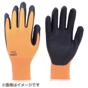トラスコ中山 TRUSCO 液晶対応すべり止め付ニトリル手袋 オレンジ M ドットコム専用 TNGOM