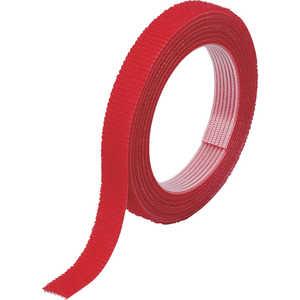 トラスコ中山 TRUSCO マジックバンド結束テープ 両面 幅10mmX長さ5m 赤 ドットコム専用 MKT10VR