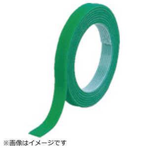 トラスコ中山 TRUSCO マジックバンド結束テープ 両面 幅20mmX長さ5m 緑 ドットコム専用 MKT20VGN