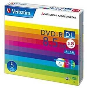 VERBATIMJAPAN データ用DVD-R DL(2-8倍速/8.5GB)5枚パック R-Dx5P2-8 DHR85HP5V1