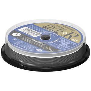 VERBATIMJAPAN データ用 DVD+R DL 2.4-8倍速対応 8.5GB 10枚スピンドル DTR85HP10SD1