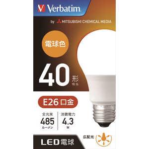 VERBATIMJAPAN LED電球 バーベイタム(Verbatim) [E26/電球色/40W相当/一般電球形/広配光] LDA4LGLCV1