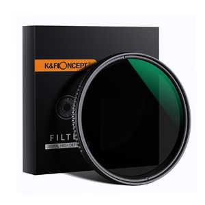 K &FCONCEPT バリアブル NDフィルター(減光範囲 ND8-ND2000) 62mm KF62ND2K