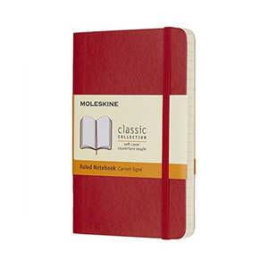 MOLESKINE カラーノート ノートブック ソフトカバー ルールド(横罫) レッド Pocket レッド QP611F2