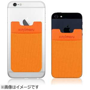 ROOX ステッカーブルポケット Sinji Pouch Basic 2 カード収納ケース オレンジ SINSPB2LLOR